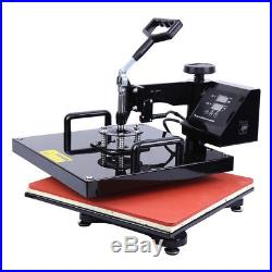 15x15 5 in 1 Heat Press Transfer Machine Sublimation For T-shirt Mug Plate Hat