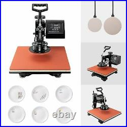 5 in1 Heat Press Machine For T-Shirt 15x15 Combo Kit Sublimation Swing away