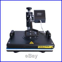 5 in 1 12x15 Combo Heat Press Machine Transfer for T-shirt Hat Multifunctional
