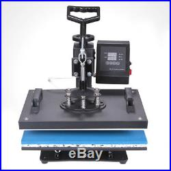 5 in 1 Digital Heat Press Machine 15x12 Transfer Sublimation for T-Shirt Hat