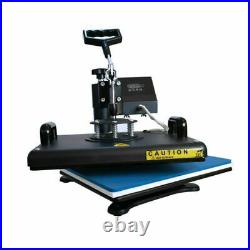 5in1 15x12 Heat Press Swing Away Machine+110Pcs Sublimation Paper for T-Shirt