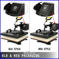 8 in 1 Heat Press Machine For T-Shirts 15x15 Combo Kit Sublimation Swing away
