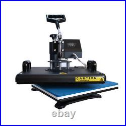 8in1 15x12 Heat Press Machine Sublimation Swing Away for T-Shirts Mug Plate US
