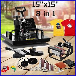 Heat Press Machine 15''x15'' Combo Sublimation Machine Clamshell for T-Shirts