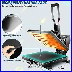 Heat Press Machine 15x15 Combo Sublimation Machine Clamshell for T-Shirts HOT