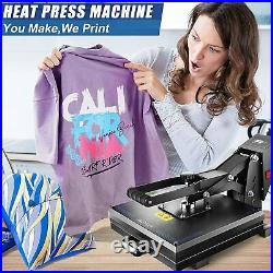 Heat Press Machine 15x15 Combo Sublimation Machine Clamshell for T Shirts US