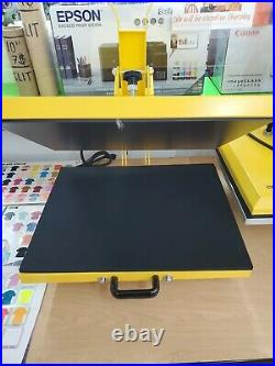 Heat press machine 16 x 20 Clam Shell Bottom Drawer For T Shirts and Flat Items
