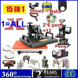 NEW 15 In 1 Combo Multi Functional T shirt Print Sublimation Heat Press Machine