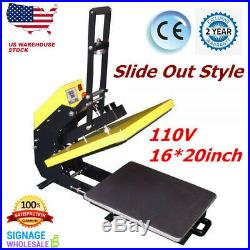 4afd358a5 USA 16×20 Clamshell Auto Open T-shirt Heat Press Machine with Slide Out  Style