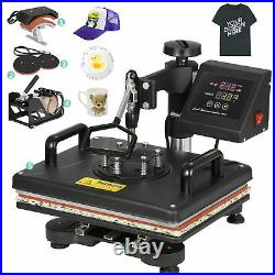 USED 5 in 1 Heat Press Machine For T-Shirts 12x15 Combo Kit Sublimation Swing