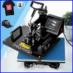 Upgraded 5 In1 Heat Press Transfer Machine Combo Printing Sublimation with T-shirt