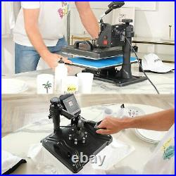 Upgraded 5 in 1 Heat Press Transfer Machine Combo T-Shirt Printing Sublimation