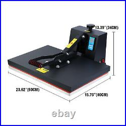 Used 16x24 1500W Clamshell Heat Press Transfer T-Shirt Sublimation Machine